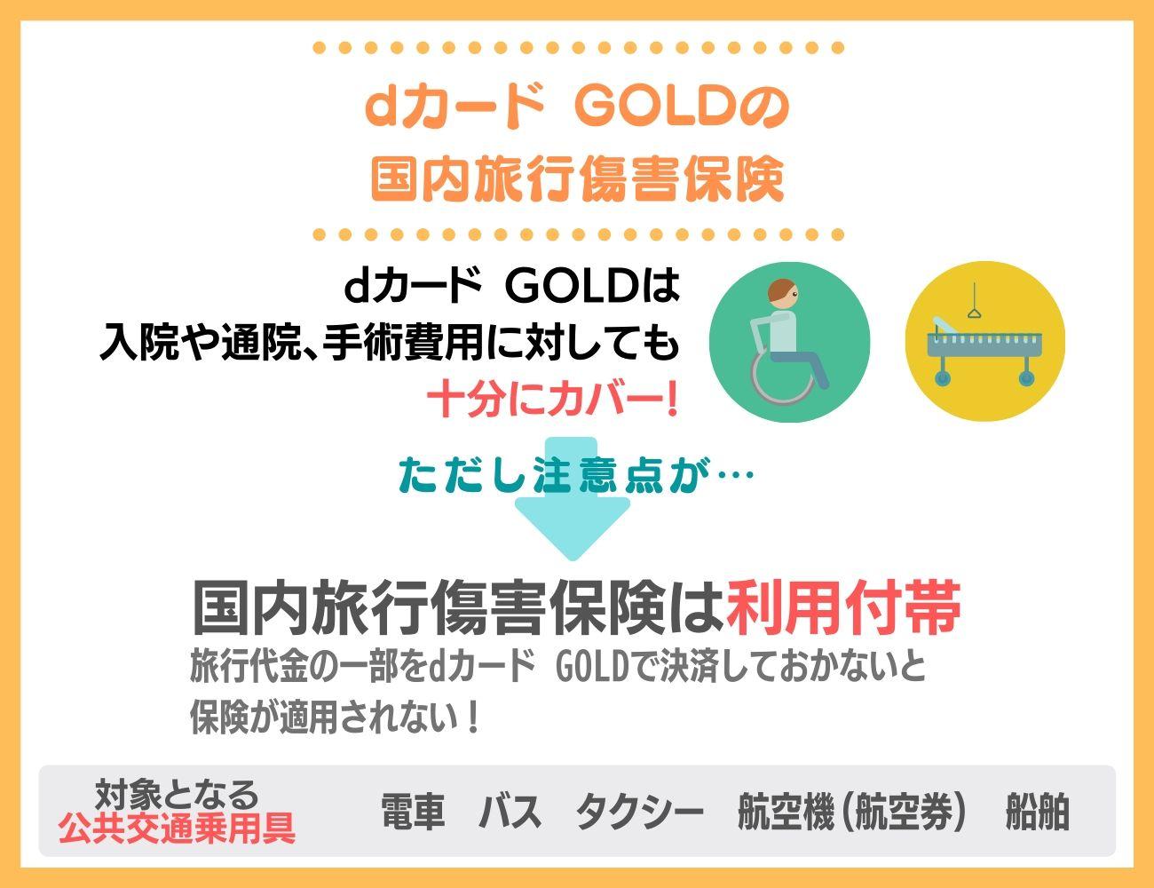 dカード GOLDの国内旅行保険も充実!