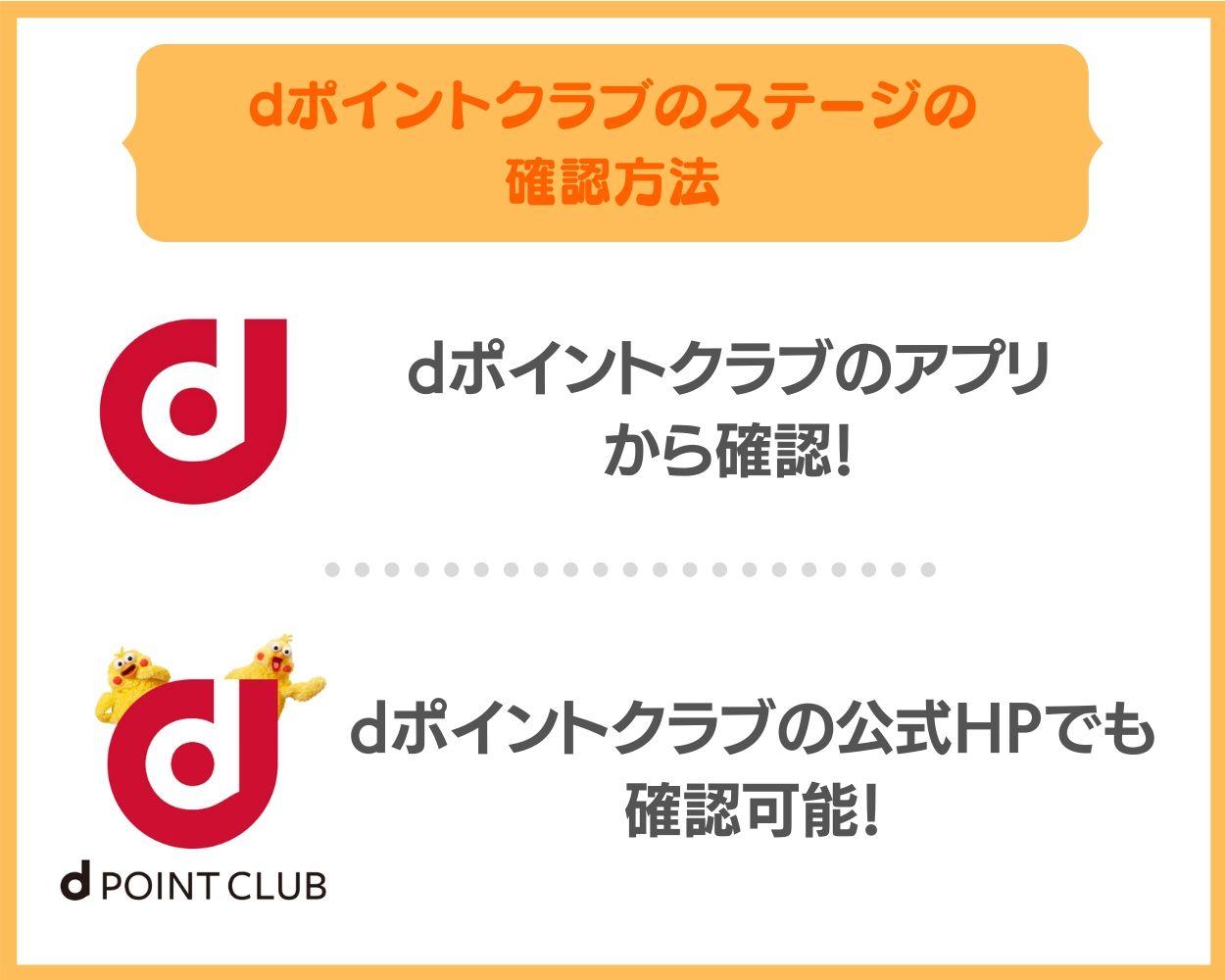 dポイントクラブのステージはアプリやウェブから確認できる!