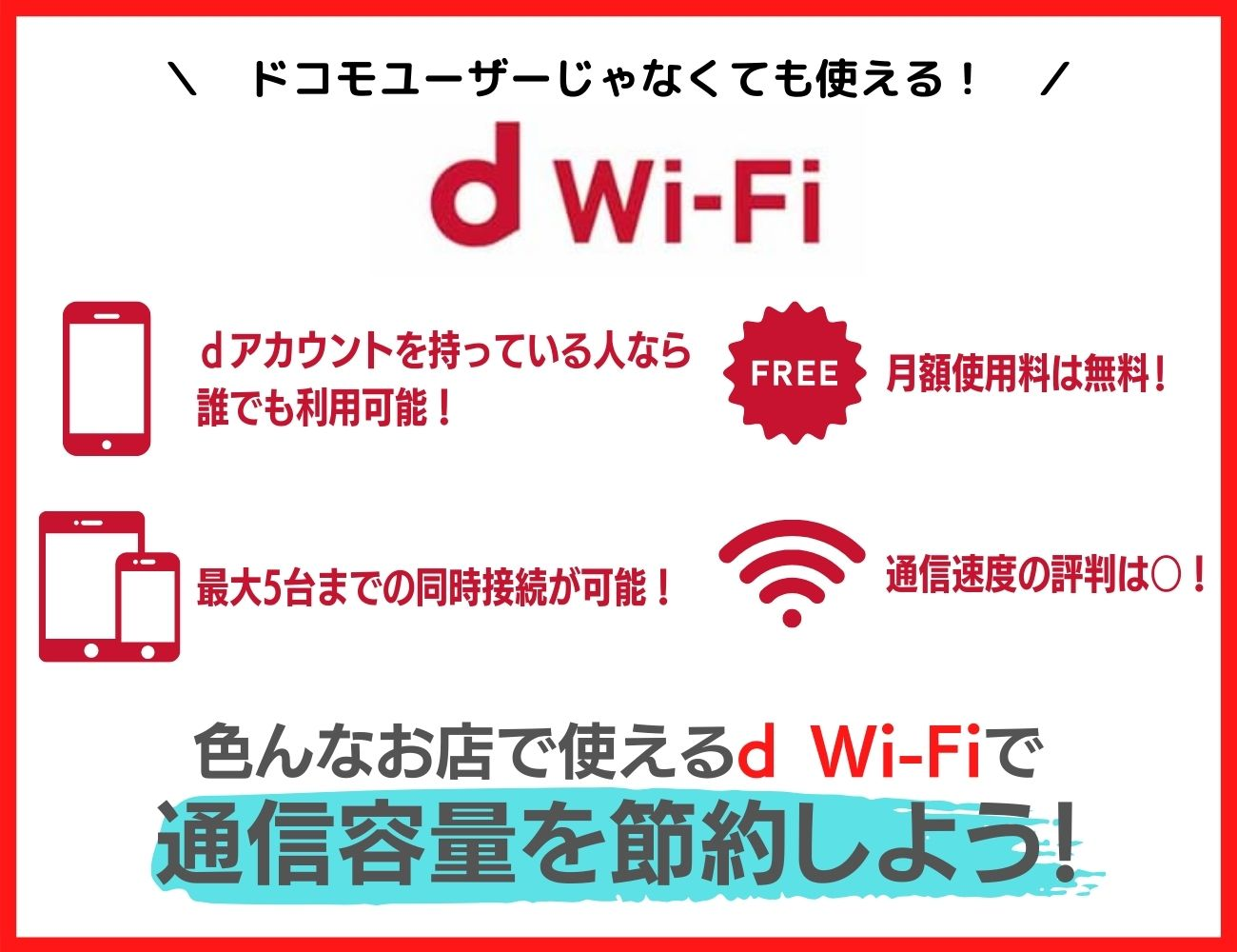 d Wi-Fiを有効活用して通信容量を節約しよう!