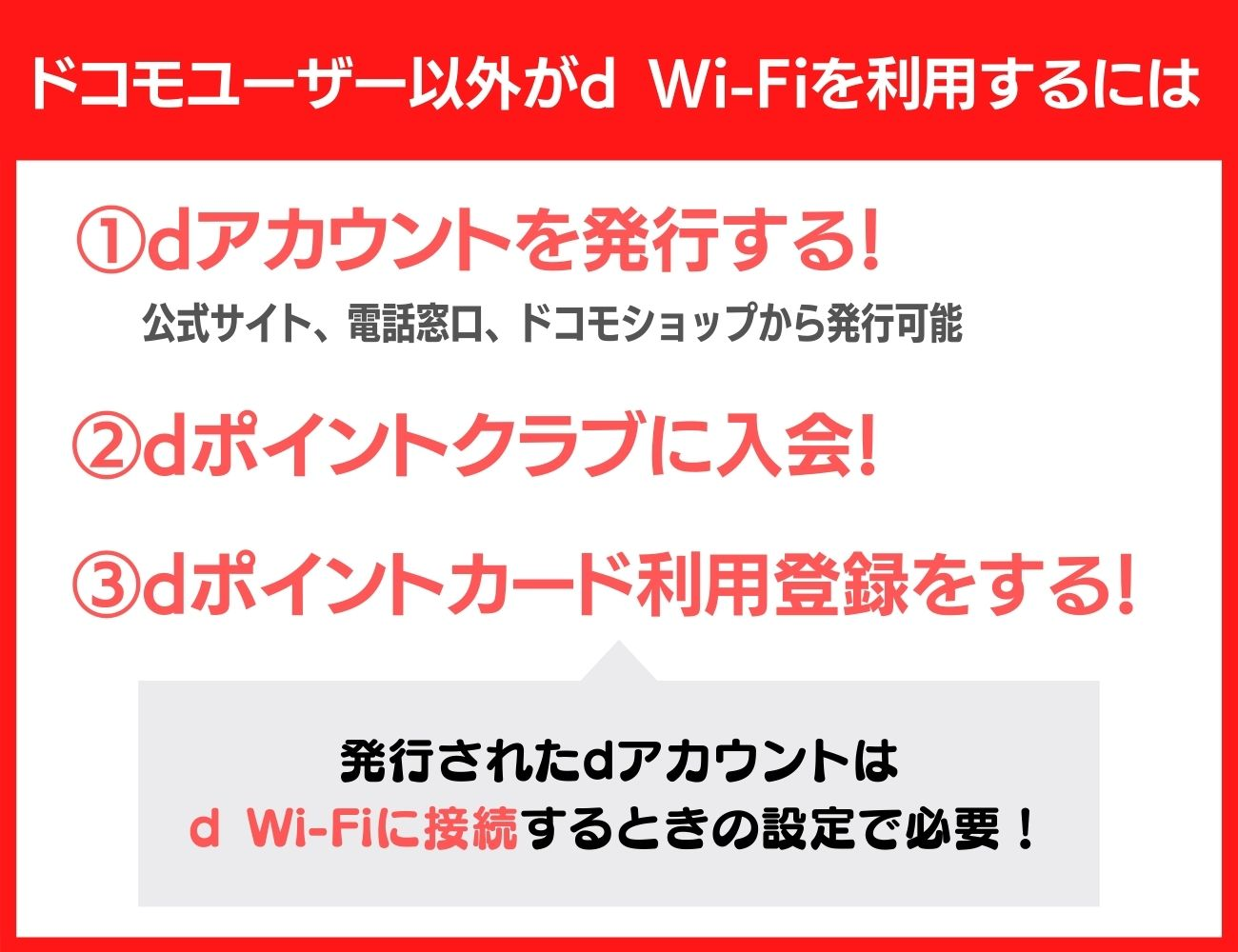d Wi-Fiの登録方法|dポイントクラブの会員なら誰でも使える!
