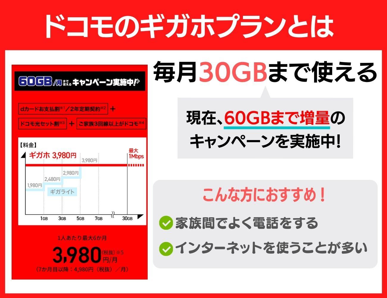 ドコモのギガホは最大30GBまで利用可能!2つのコースを理解しよう!