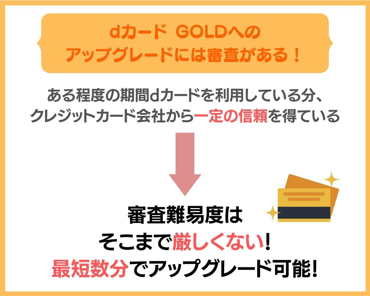 dカード GOLDへのアップグレード・切り替えには審査がある