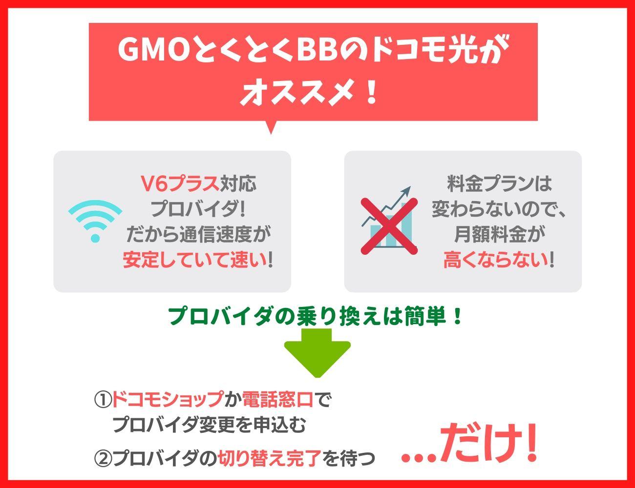 プロバイダの通信速度はGMOとくとくBBのドコモ光がおすすめ!