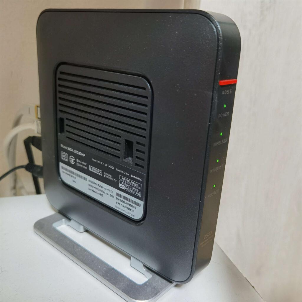 BUFFALOの無線ルーター