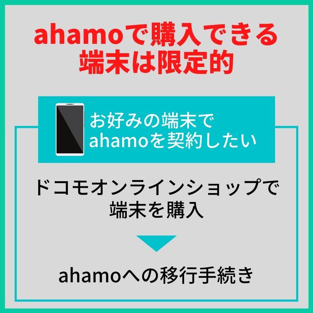 ahamoで購入できる端末が少ないことが弱点