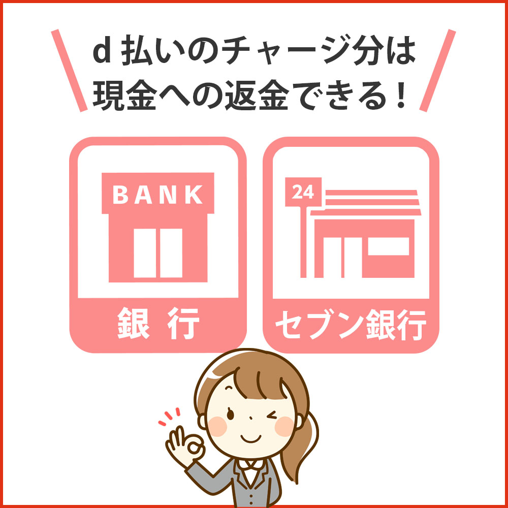 d払いのチャージ分を使い切る方法|チャージ分を返金する方法はある!