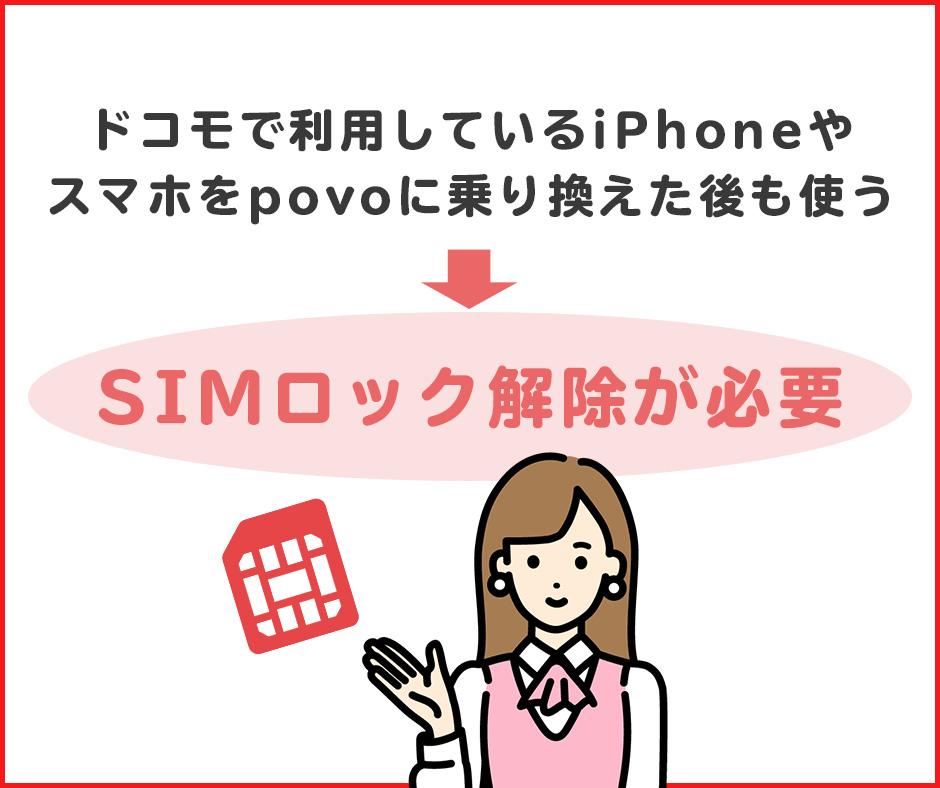 SIMロックの解除が必要