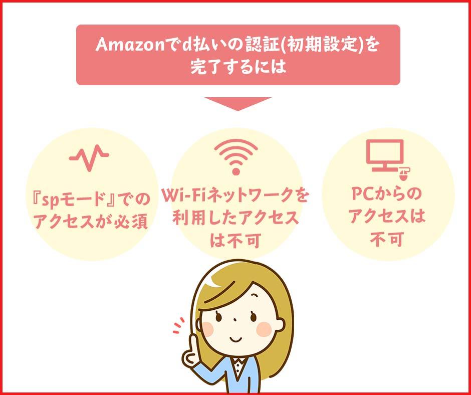 Amazonでd払いを利用するための初期設定はPCではできない