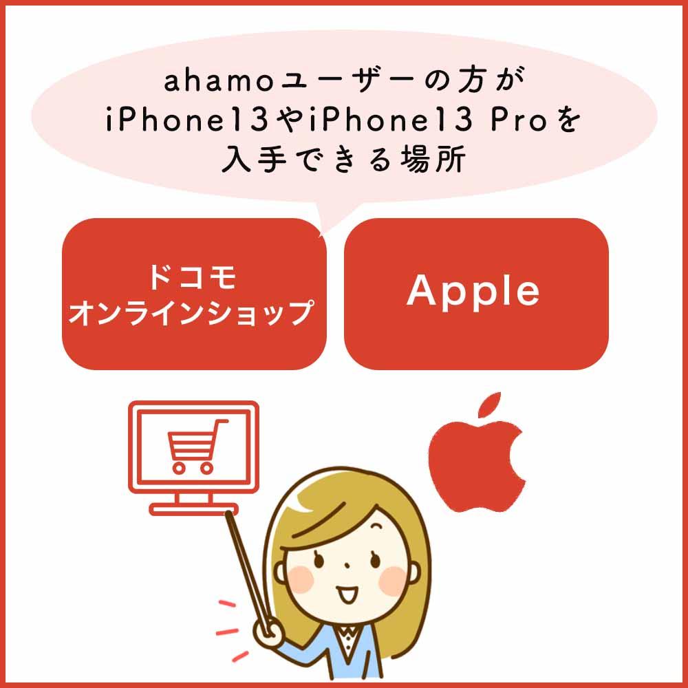 ahamoでiPhone13やiPhone13 Proは直接購入できない